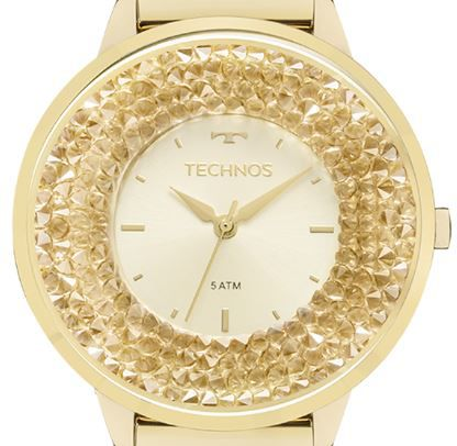 Relógio Feminino Technos Elegance Crystal Swarovski 2035MLG/4X