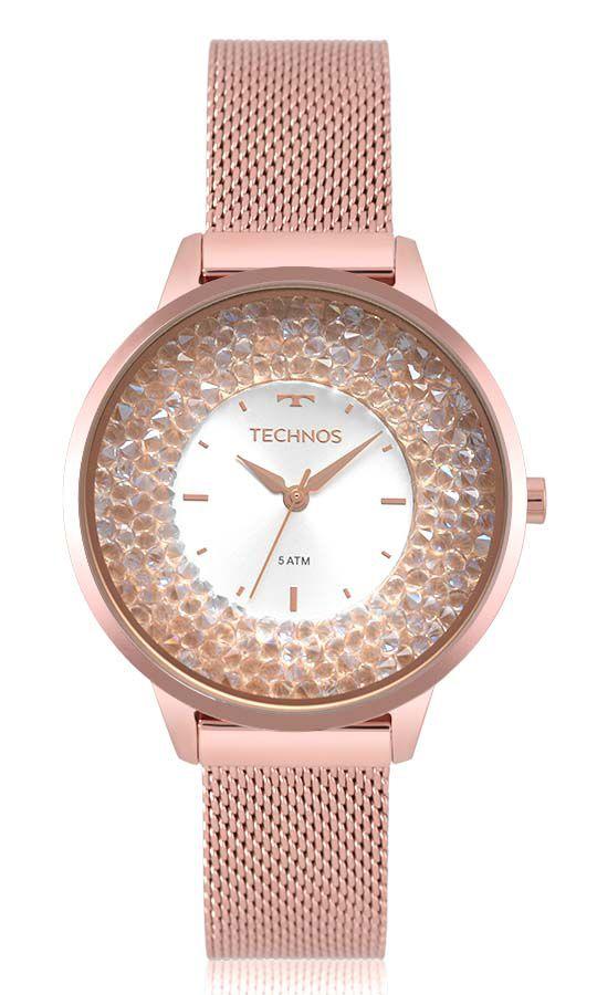 Relógio Feminino Technos Elegance Crystal Swarovski 2035MQB/5K