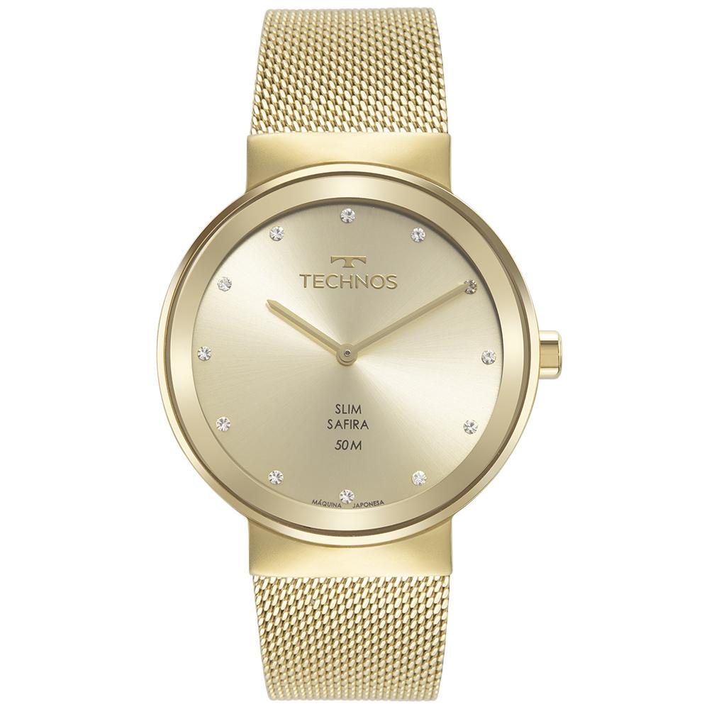 Relógio Feminino Technos Slim Dourado 1L22WM/1X