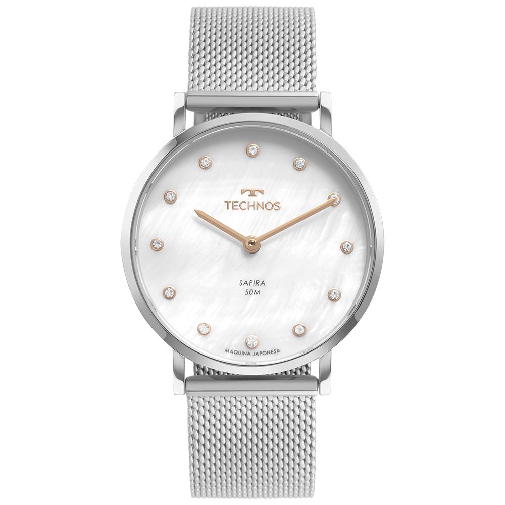 Relógio Feminino Technos Slim Prata 2025LTT/1B