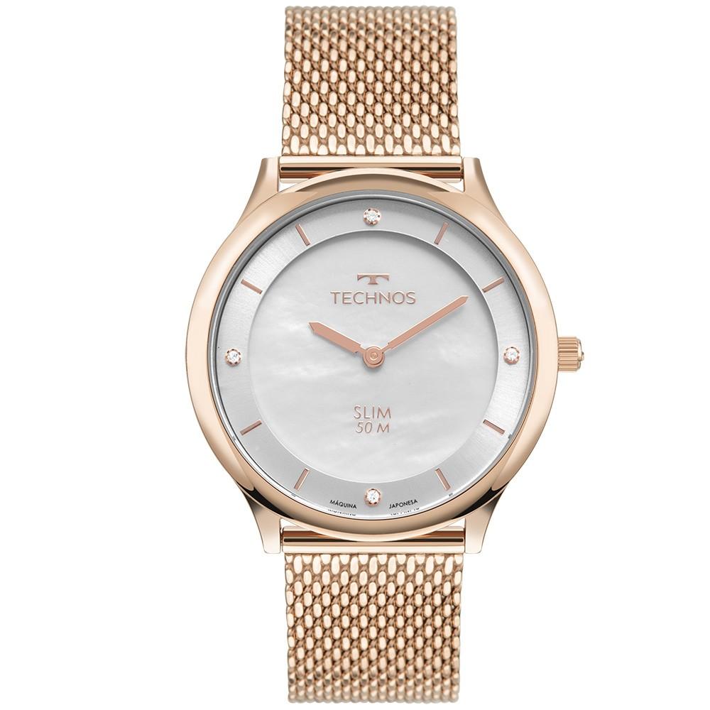 Relógio Feminino Technos Slim Rosé GL20HL/1K