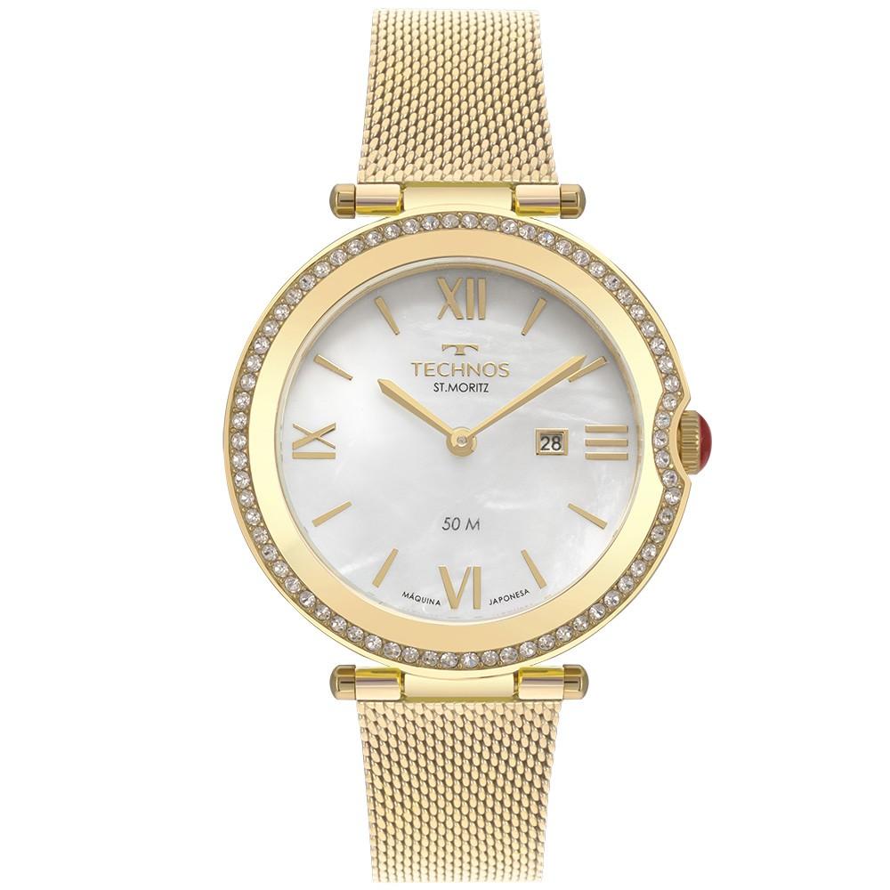 Relógio Feminino Technos St. Moritz Dourado GL15AW/1B