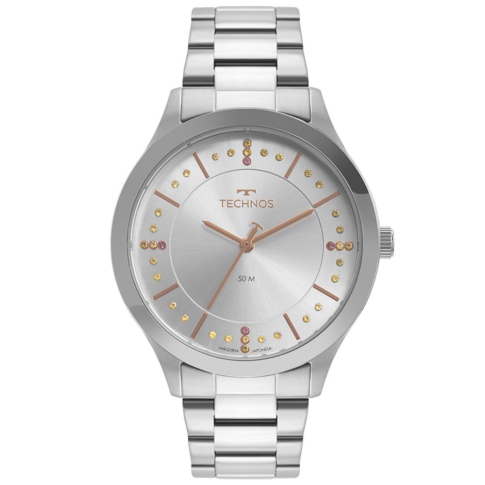 Relógio Feminino Technos Trend Prata 2036MNJ/1T