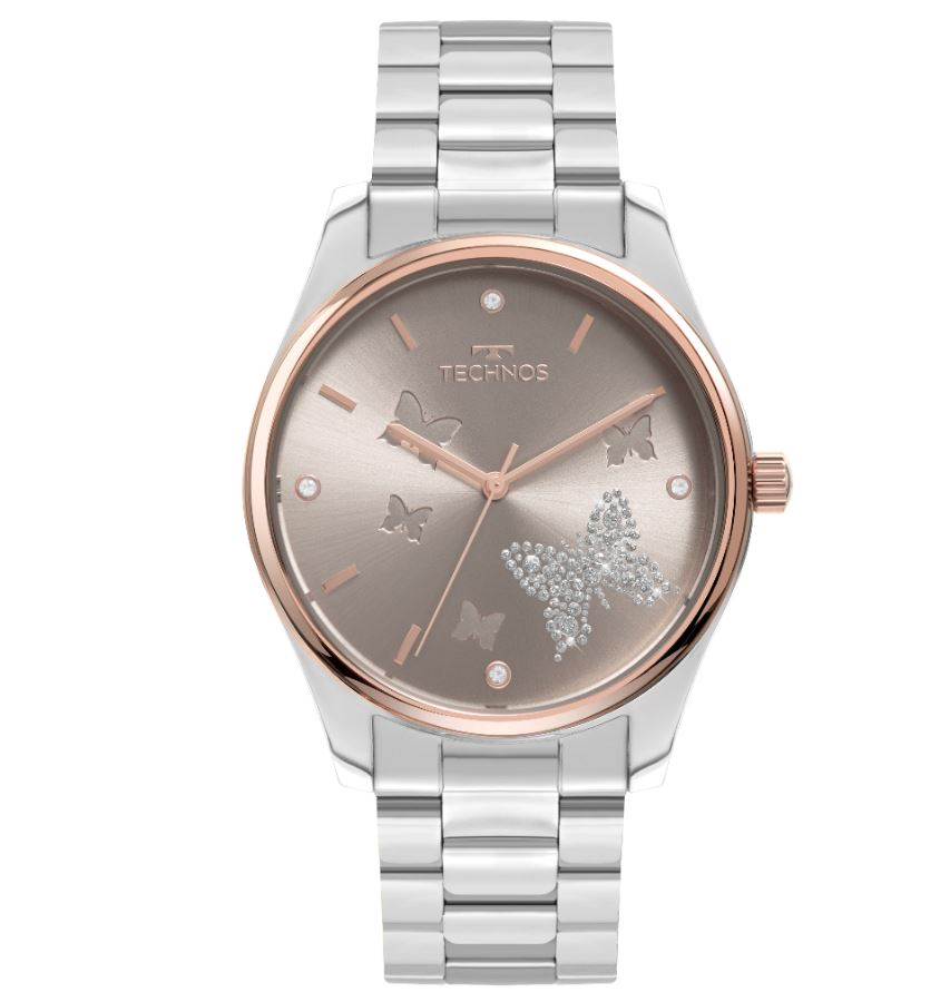 Relógio Feminino Technos Trend Prata 2036MOG/1C