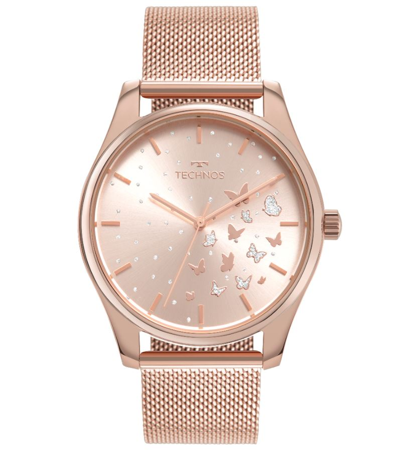 Relógio Feminino Technos Trend Rose 2036MNX/1T