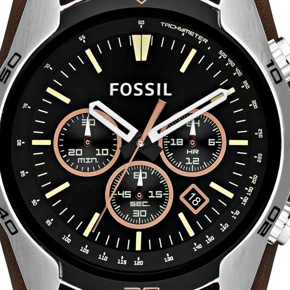 Relógio Fossil Cuff Cronógrafo Masculino CH2891/2PN