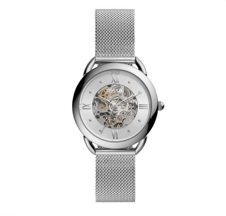 Relógio Fossil Tailor Automatic Prata feminino ME3166/1KN