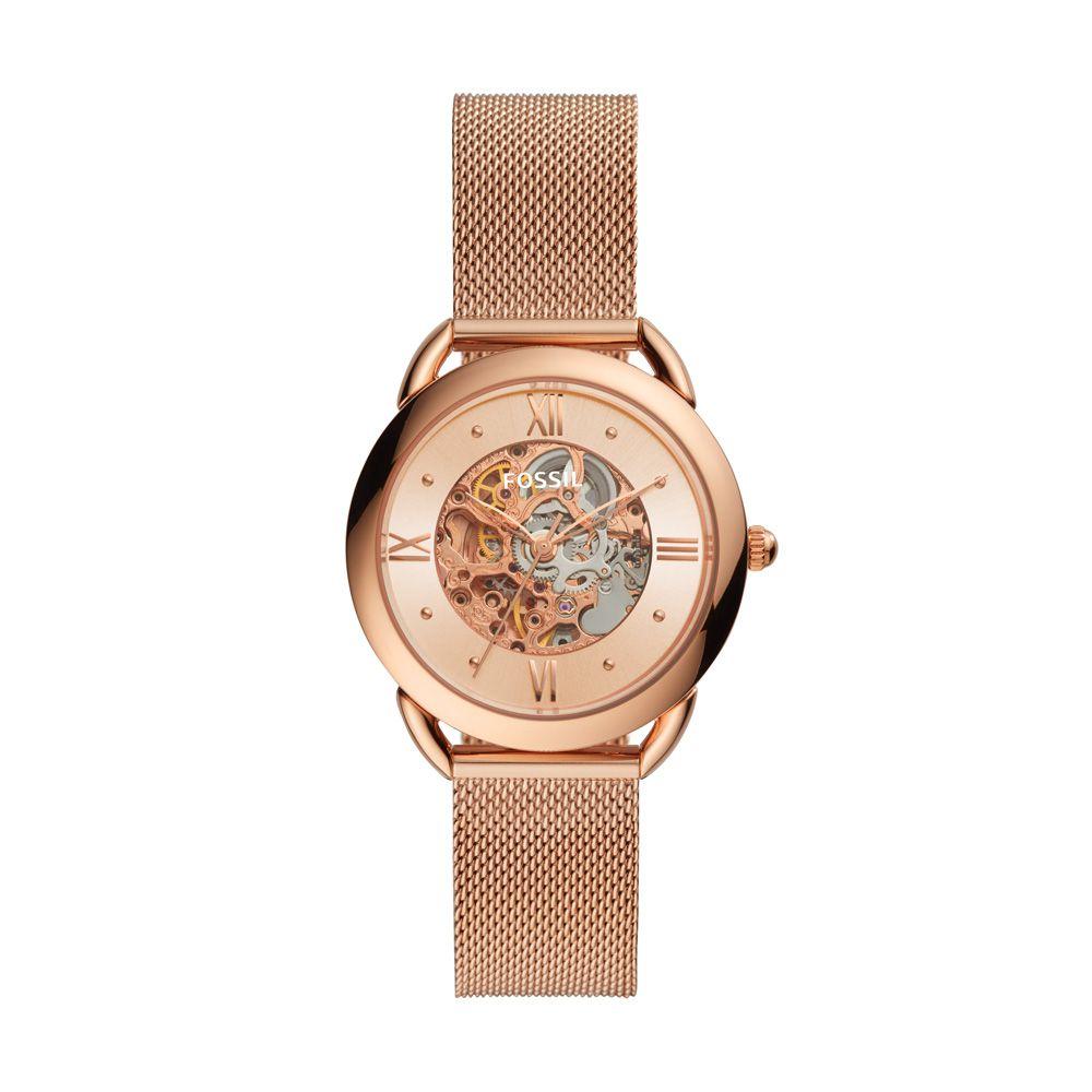 Relógio Fossil Tailor Automatic Rosé feminino ME3165/1JN
