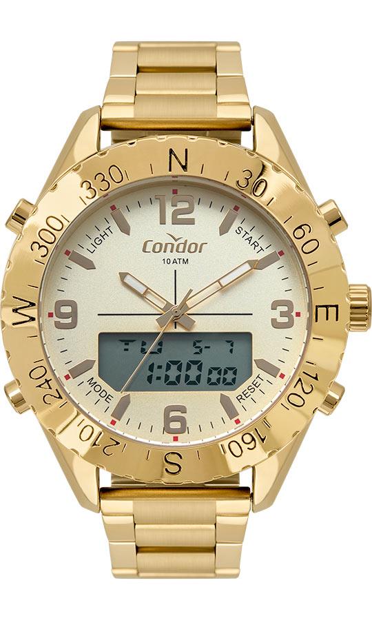 Relógio Masculino Condor AnaDigi Dourado COBJ3689AB/4X