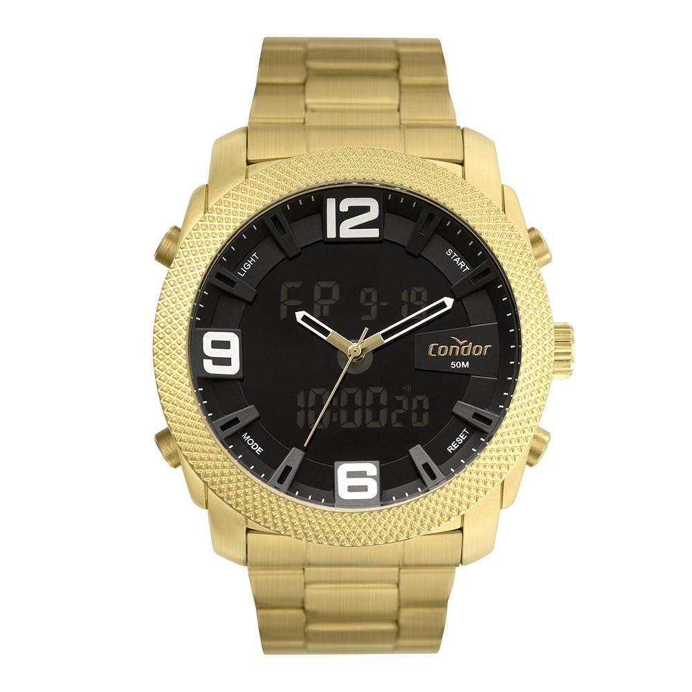 Relógio Masculino Condor AnaDigi Dourado COBJ3815AC/4D