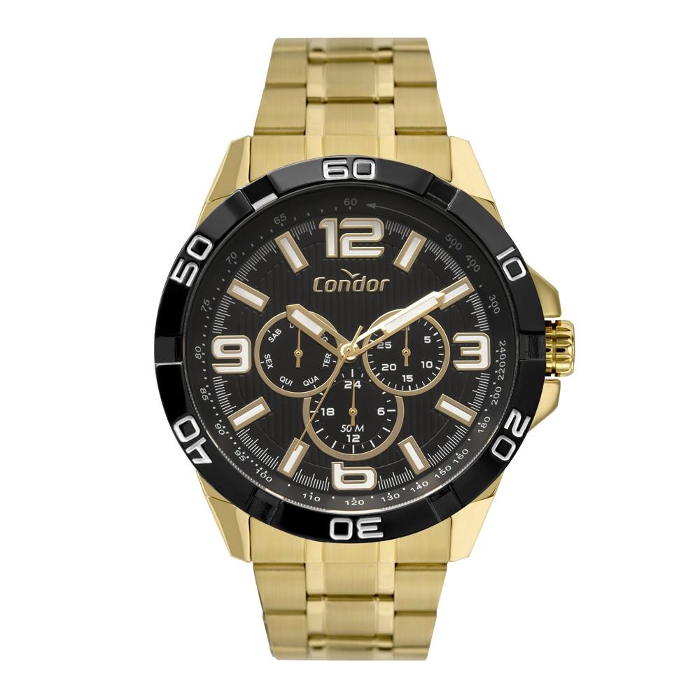 Relógio Masculino Condor Civic Dourado CO6P29JN/4P