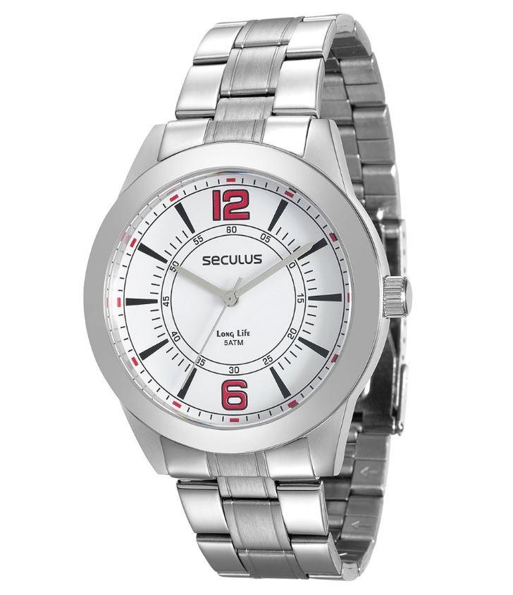 Relógio Masculino Seculus Prata 28864G0SVNA2