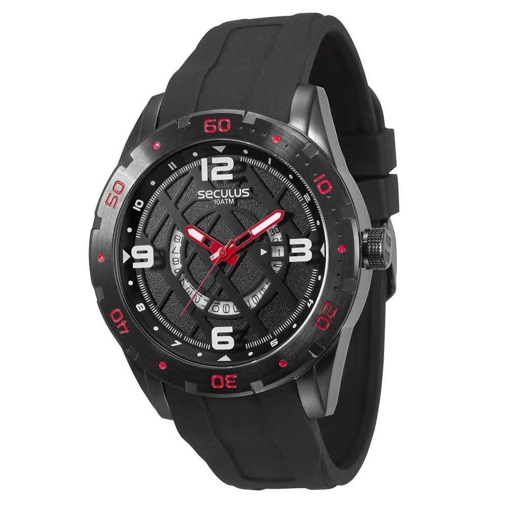 Relógio Masculino Seculus Preto 60656GPSVPU1