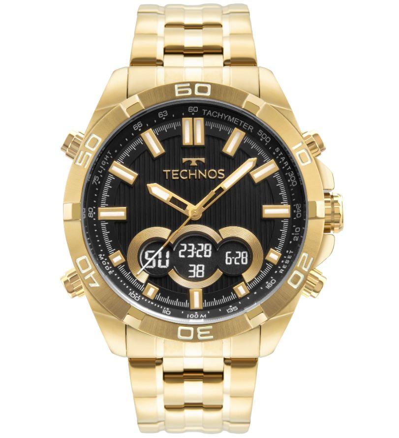 Relógio Masculino Technos AnaDigi Dourado BJK629AA/1P