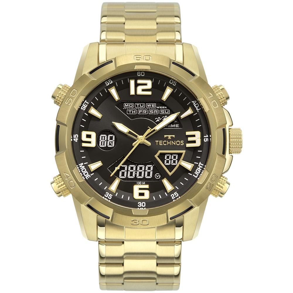 Relógio Masculino Technos AnaDigi Dourado W23305AB/1P