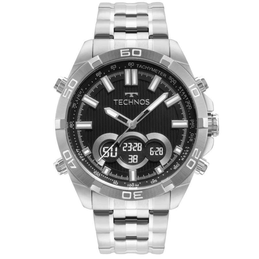 Relógio Masculino Technos AnaDigi Prata BJK629AB/1P