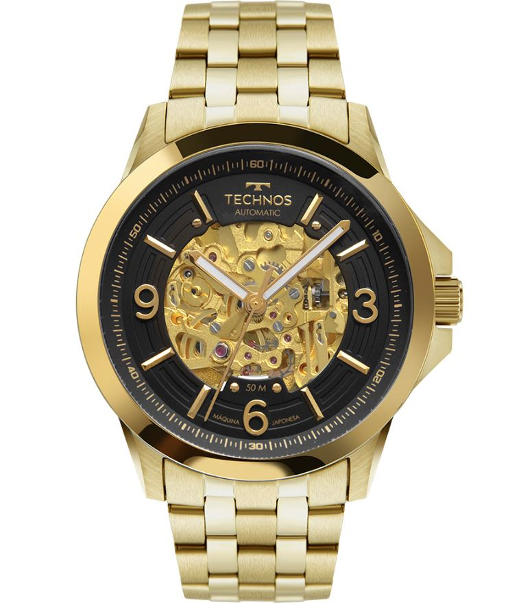 Relógio Masculino Technos Automático Dourado 8N24AK/4P