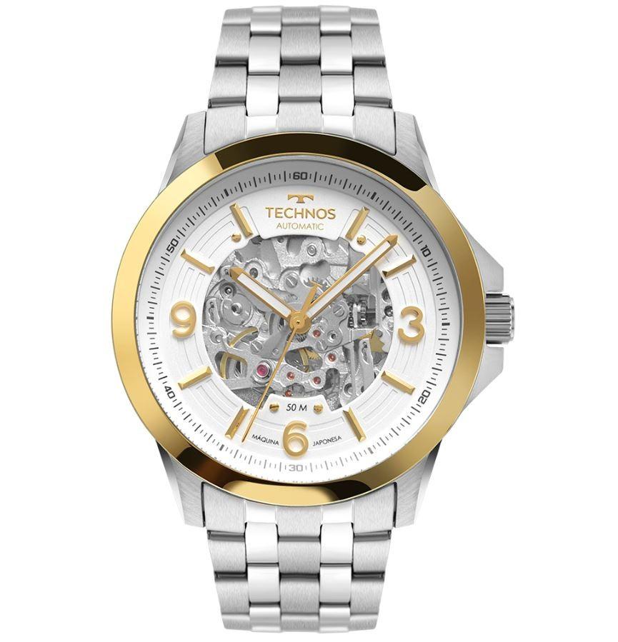 Relógio Masculino Technos Automático Prata 8N24AL/1K