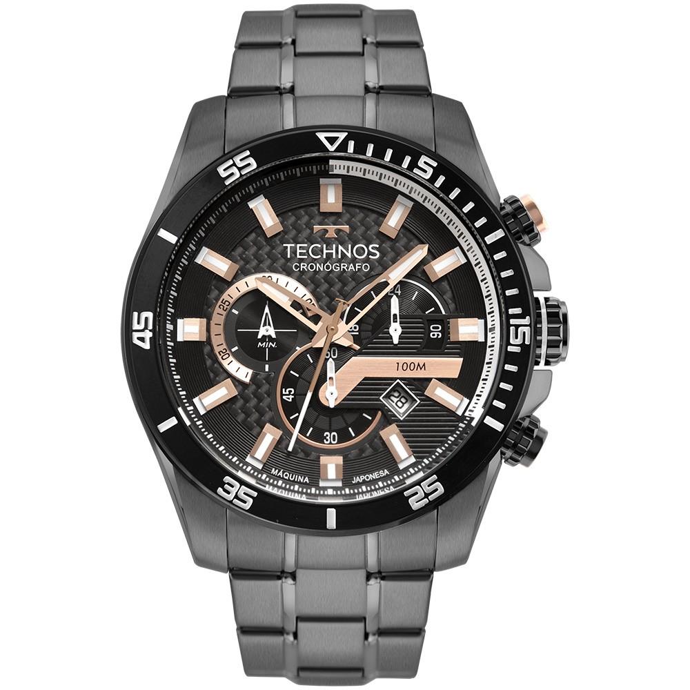 Relógio Masculino Technos Carbon Grafite JS25CM/1P