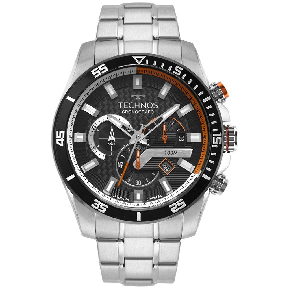 Relógio Masculino Technos Carbon Prata JS25CO/1P