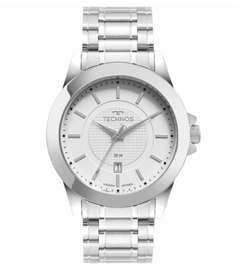 Relógio Masculino Technos Classic Steel 2115MXG/1K