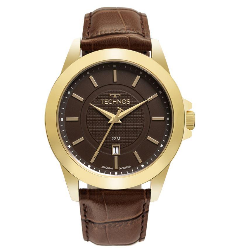 Relógio Masculino Technos Classic Steel Dourado 2115MYA/0M