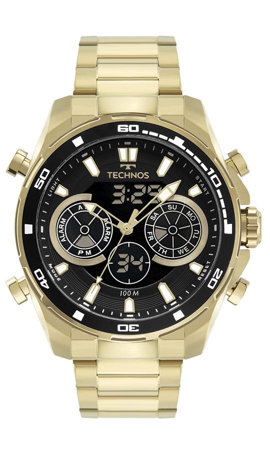 Relógio Masculino Technos Digiana Dourado BJ3530AA/1P