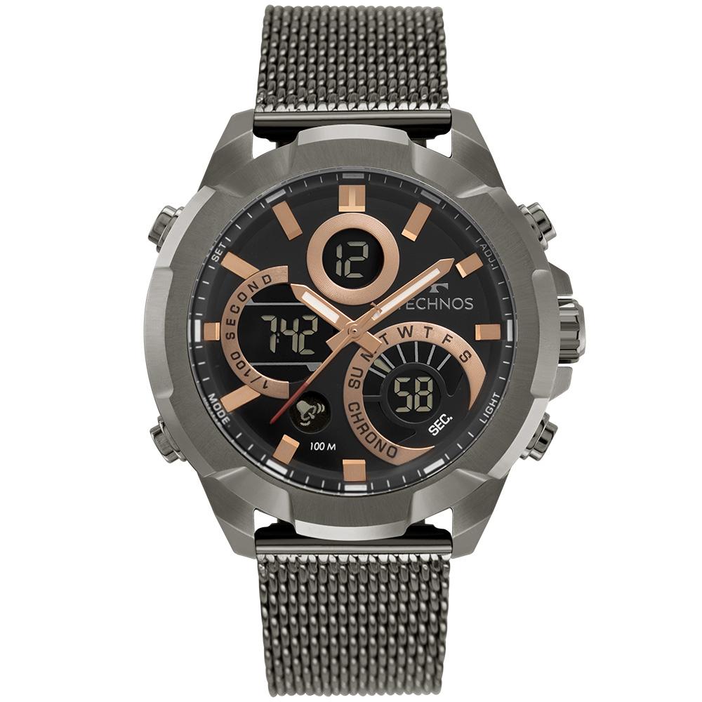 Relógio Masculino Technos Digiana Grafite W23721AAB/1P
