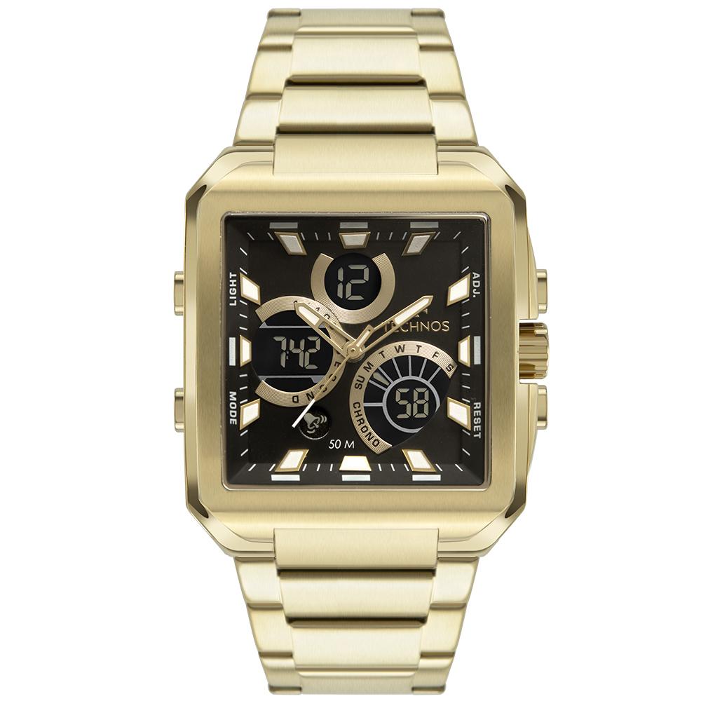 Relógio Masculino Technos Digiana Quadrado BJ3940AA/1P
