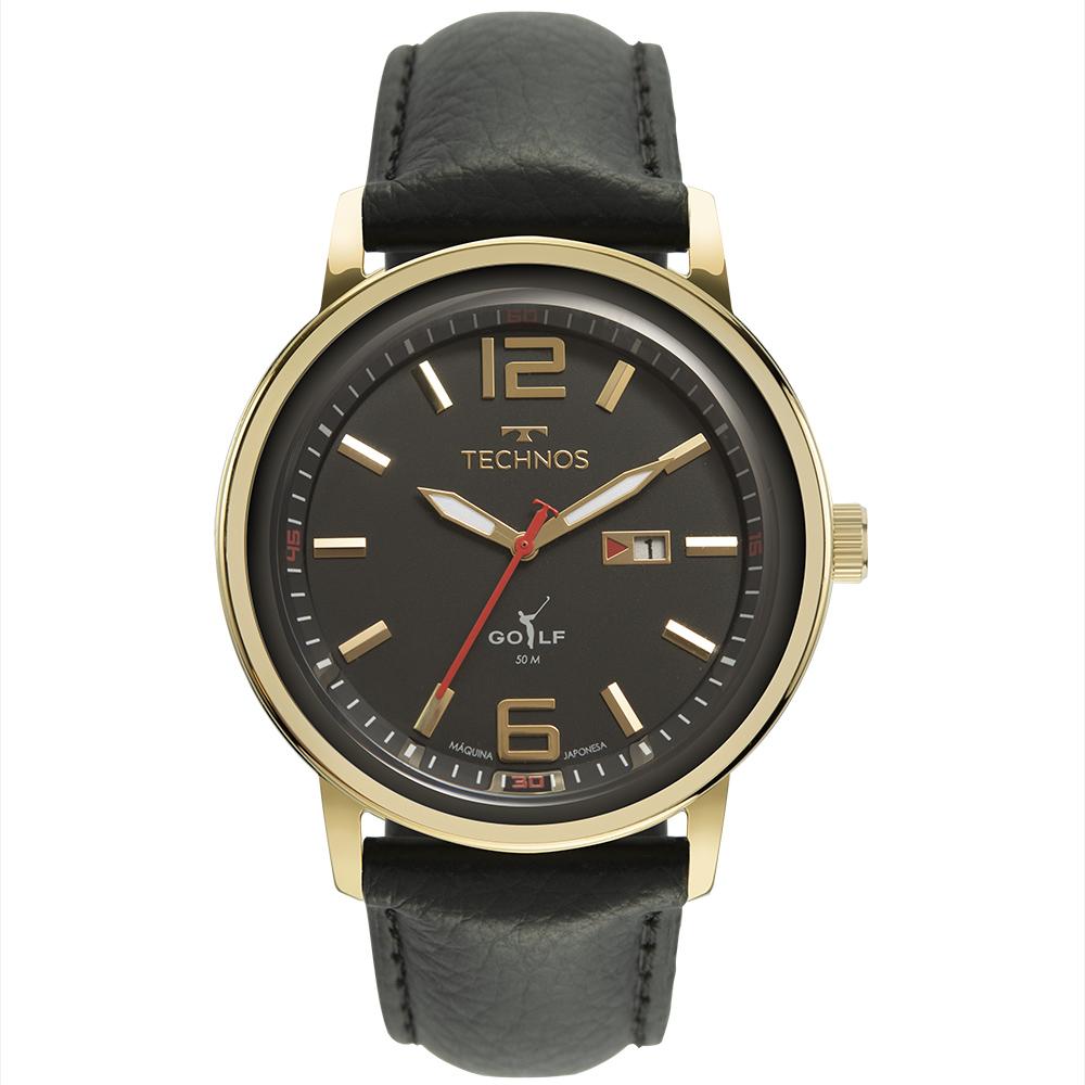 Relógio Masculino Technos Golf Couro 2115MXY/1P