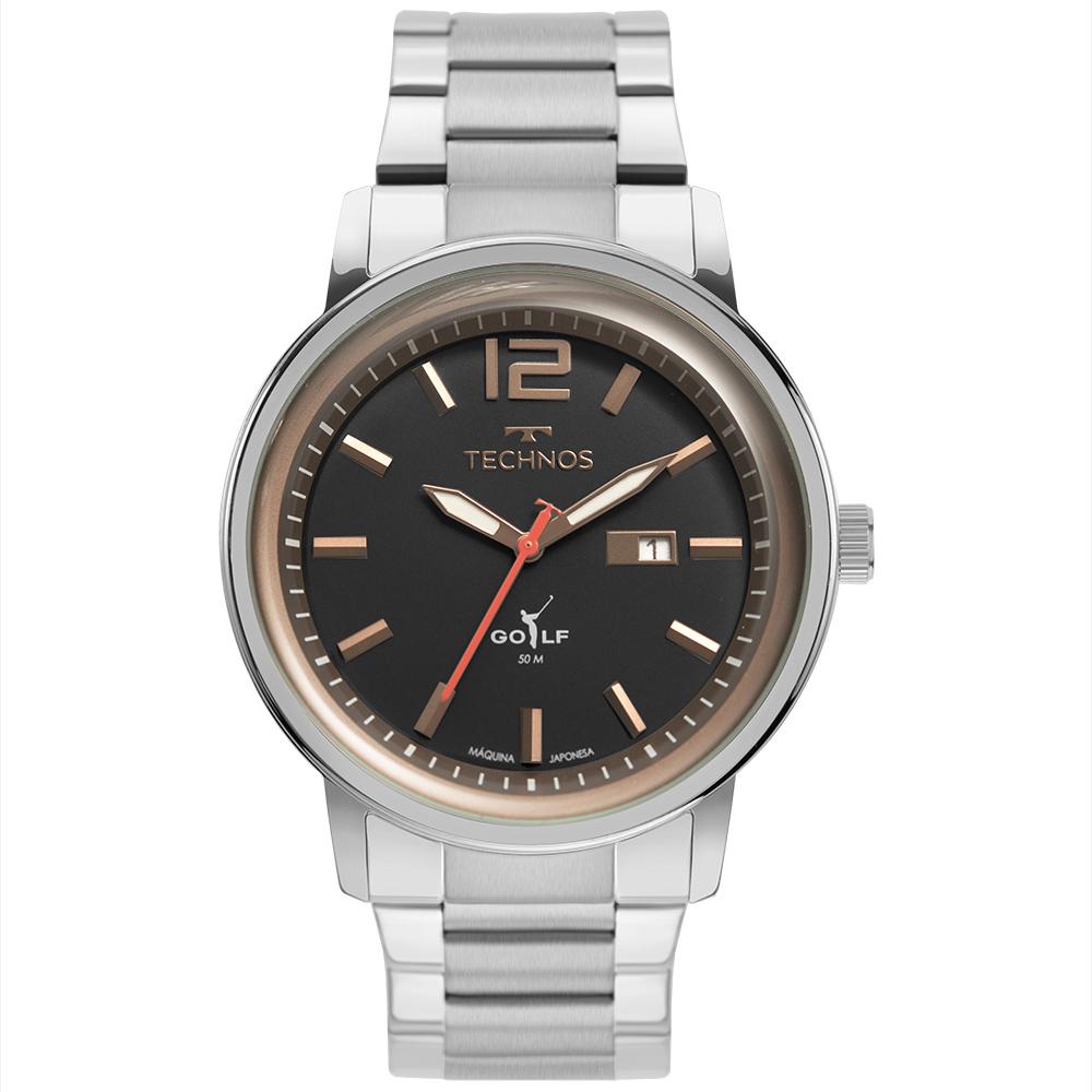 Relógio Masculino Technos Golf Prata 2115MXW/1P