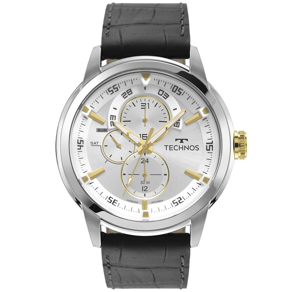 Relógio Masculino Technos Grandtech Couro 6P57AF/0K