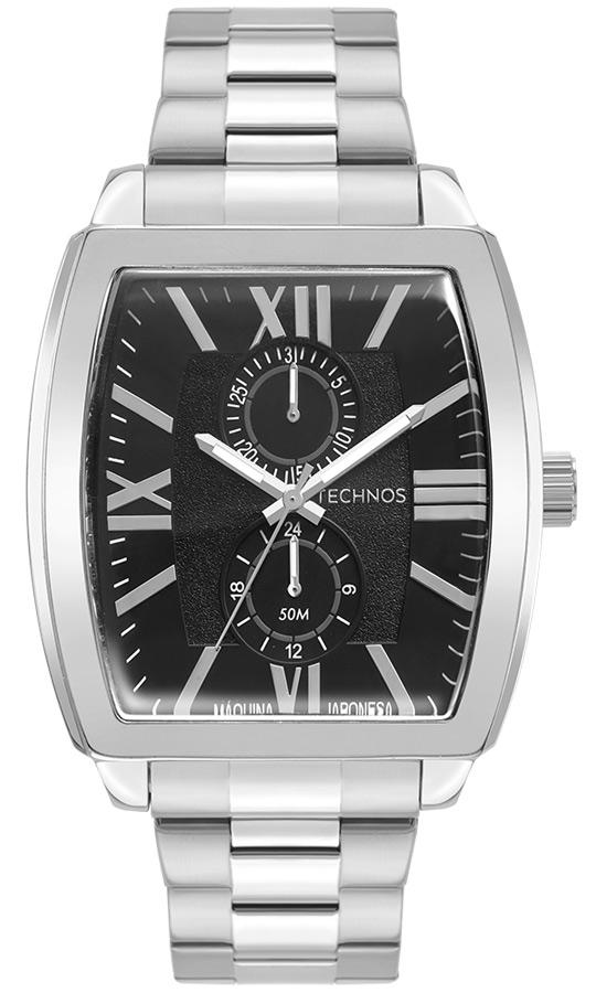 Relógio Masculino Technos Grandtech Prata 6P23AN/1P