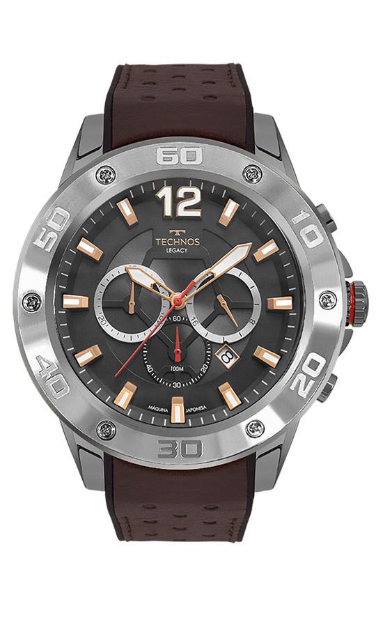 Relógio Masculino Technos Legacy Couro JS26AO/2C