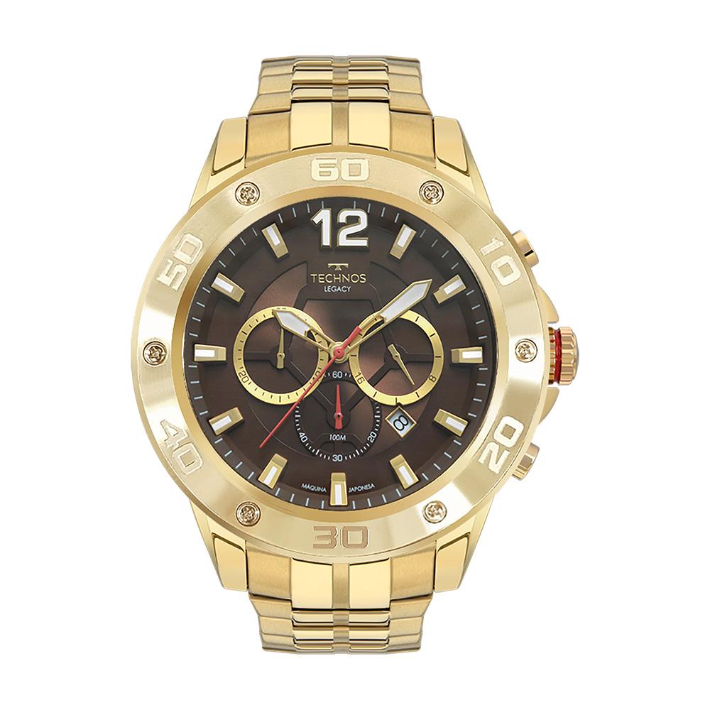 Relógio Masculino Technos Legacy Dourado JS26AP/4D