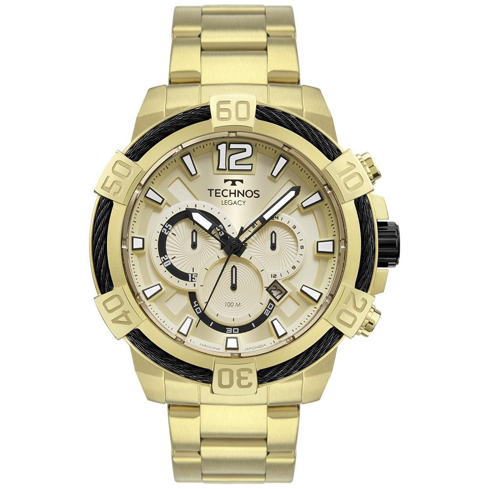Relógio Masculino Technos Legacy Dourado JS26AW/1D