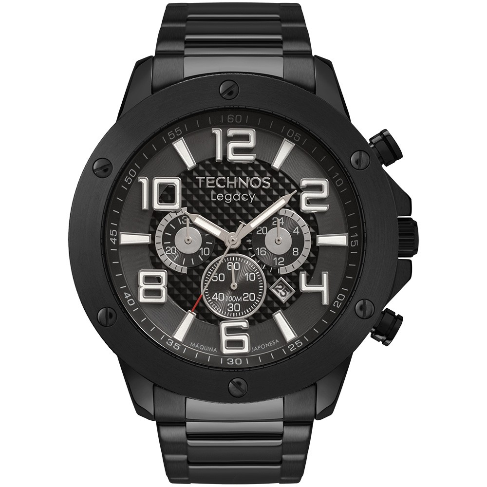 Relógio Masculino Technos Legacy Preto JS26AU/4P