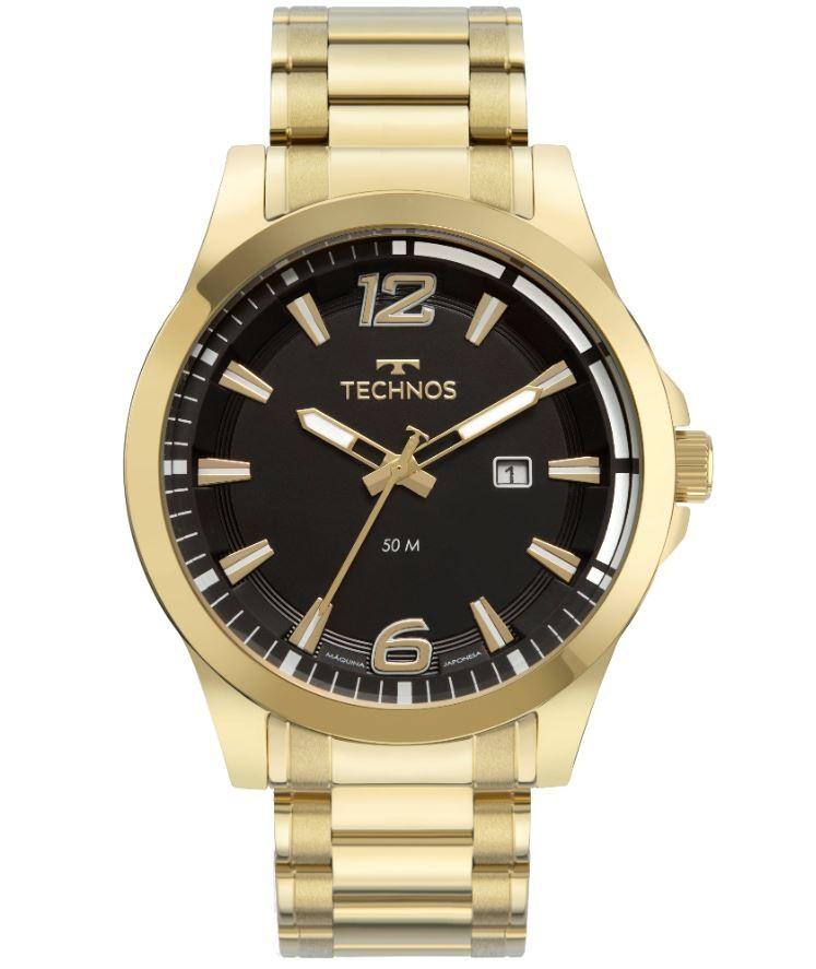 Relógio Masculino Technos Performance Racer Dourado 2117LDH/1P