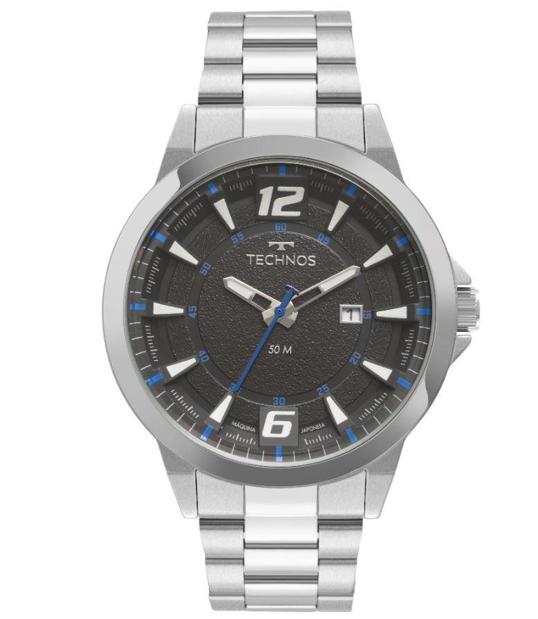 Relógio Masculino Technos Prata 2117LCY/1A