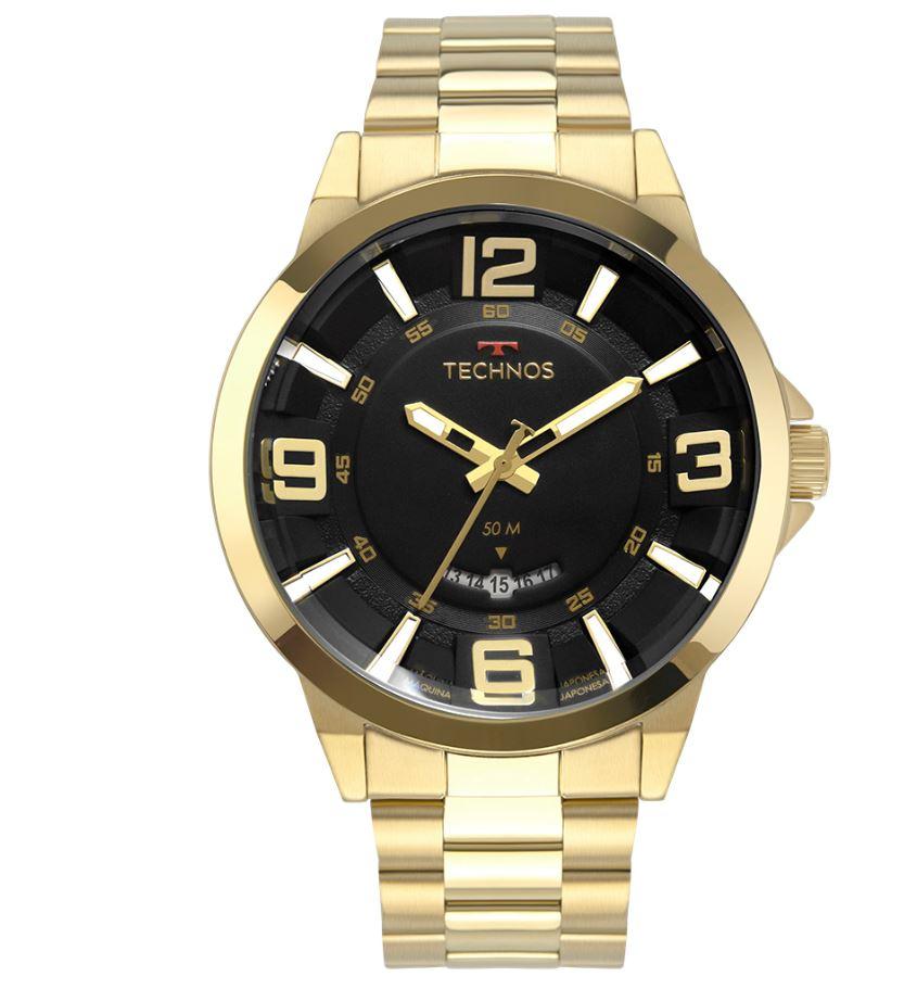 Relógio Masculino Technos Racer Dourado 2117LBO/4P