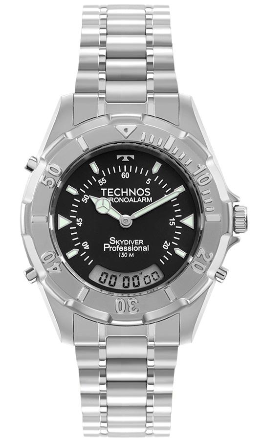 Relogio Masculino Technos Skydiver Prata T20557S/1P