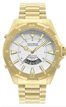 Relógio Masculino Technos Skydiver Professional Dourado WT205FL/4B