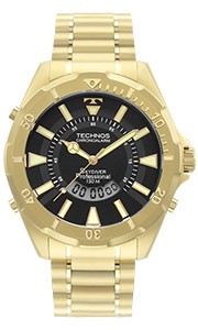 Relógio Masculino Technos Skydiver Professional Dourado WT205FL/4P