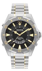 Relógio Masculino Technos Skydiver Professional Prata WT205FQ/5P