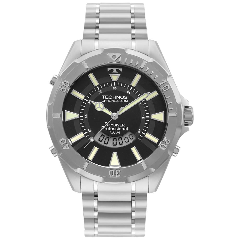 Relógio Masculino Technos Skydiver Professional Prata WT205FY/1P