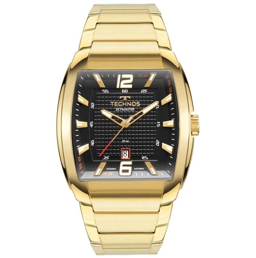 Relógio Masculino Technos Skymaster Dourado 2115MWJ/1P