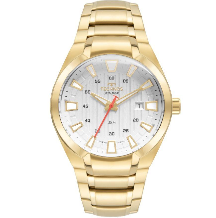 Relógio Masculino Technos Skymaster Dourado 2117LCM/1B