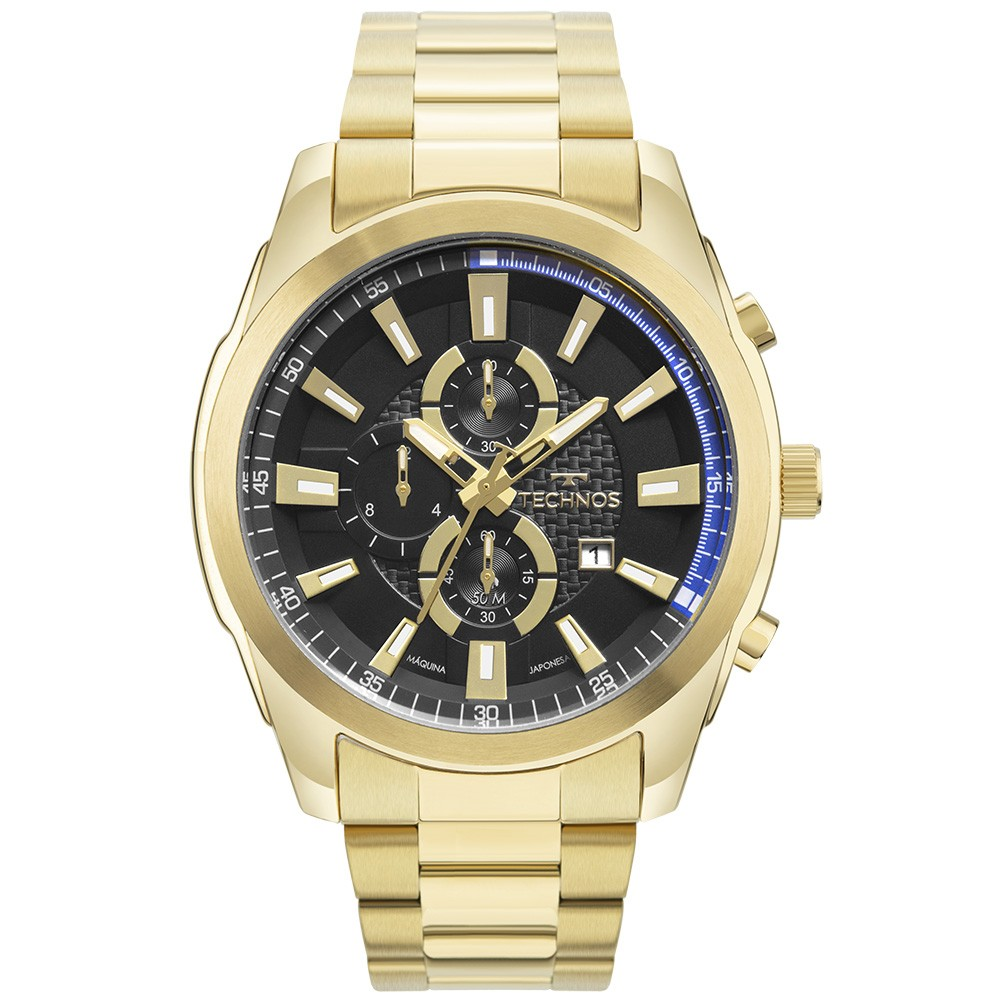 Relógio Masculino Technos Skymaster Dourado OS1ABC/4P