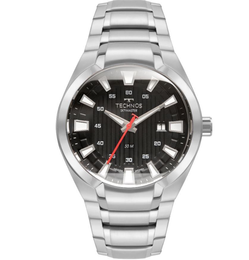 Relógio Masculino Technos Skymaster Prata 2117LCL/1P
