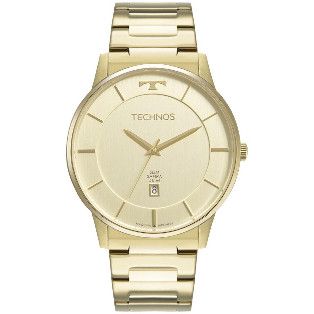 Relógio Masculino Technos Slim Dourado GM10YP/1X
